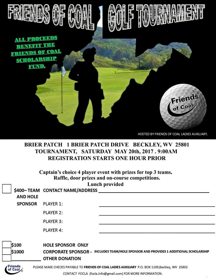 friends of coal ladies golf torn may 2017