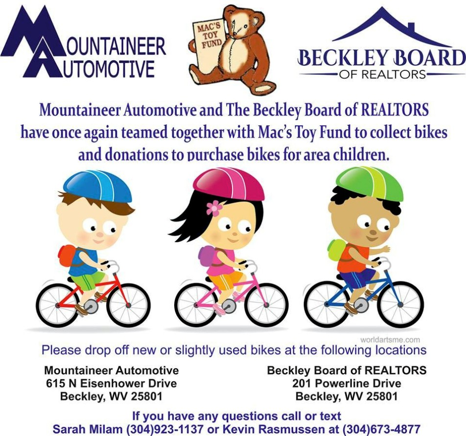 mountaineer bike donation party 2017